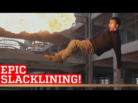Epic Slackline & Trickline Skills and Stunts! | People Are Awesome