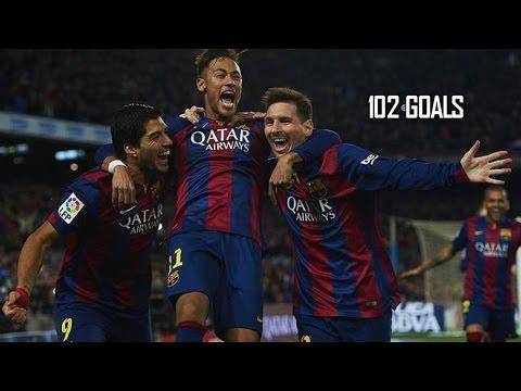 Messi, Suárez & Neymar ● All Goals - 2014-2015 | HD