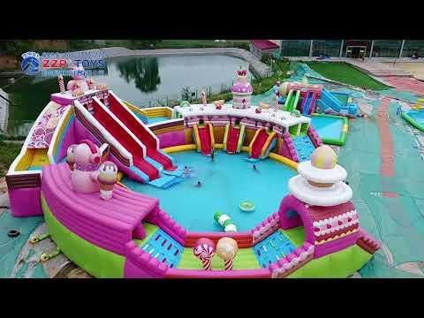 Inflatable water park from ZZPL   YouTube