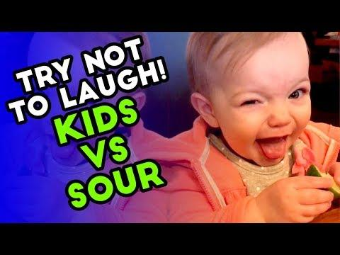 TRY NOT TO LAUGH CHALLENGE | Kids vs Sour | Funny Fails | AUGUST 2018
