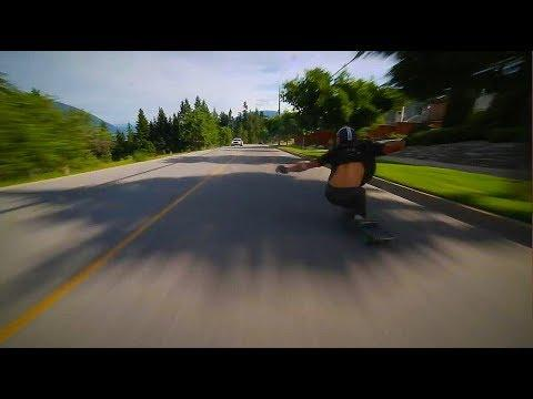 INSANE Downhill Longboarding Run - Old Child