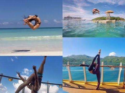AMAZING ACROBATIC AND HANDSTAND STUNTS BY GIRL | PEOPLE ARE AWESOME 2017 | TALENTDUNIA