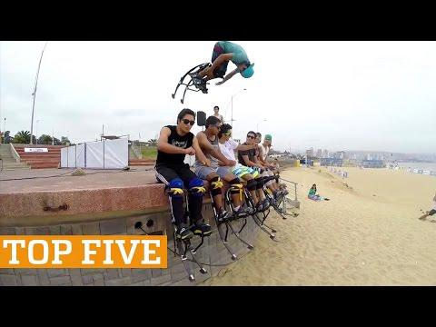 TOP FIVE: Powerbocking, Slacklining & Parkour | PEOPLE ARE AWESOME 2017