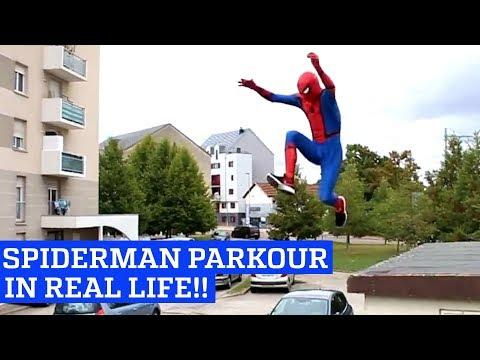 Spiderman Parkour in Real Life!
