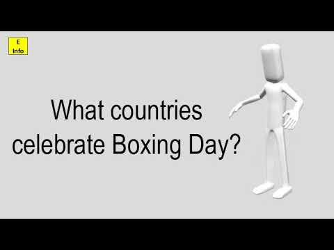 What Countries Celebrate Boxing Day?