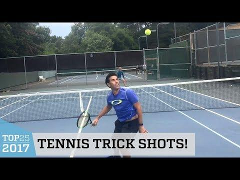 Amazing Tennis Trick Shots | Top 25 of 2017