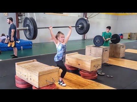 Awesome Ten-Year-Old Weight Training!