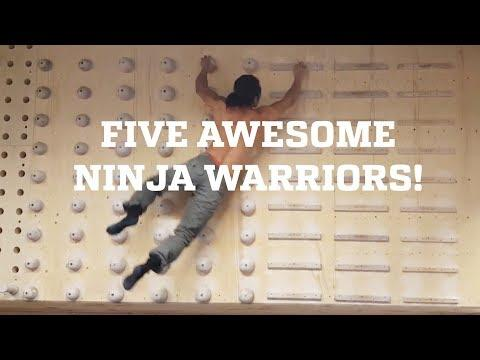 Five Awesome Ninja Warriors!