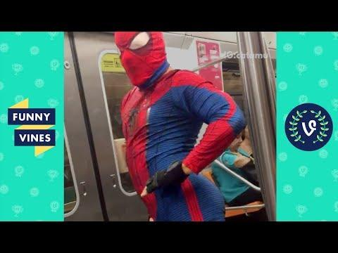TRY NOT TO LAUGH CHALLENGE - Subway Creatures | Most Weird Strange People On The Subway