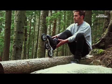 Extreme Off-Road Downhill Rollerblading!