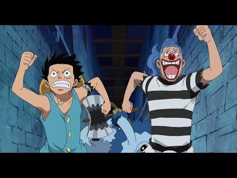 One Piece Clips Episode 423 Ruffy trifft Buggy in Impel Down