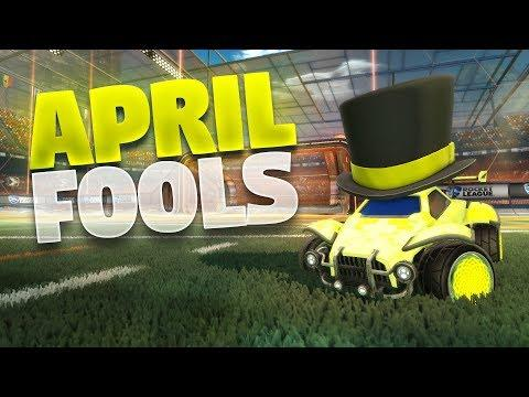 NEW April Fools Update On Rocket League (Giant Toppers Prank)