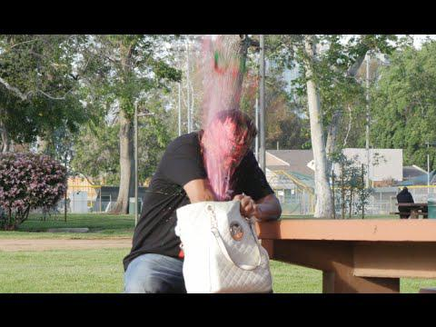 EXPLODING BAIT PURSE PRANK- IN THE HOOD 2016!!