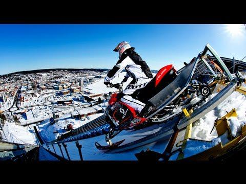 220ft Snowmobile Jump In Sweden - Daniel Bodin 2013