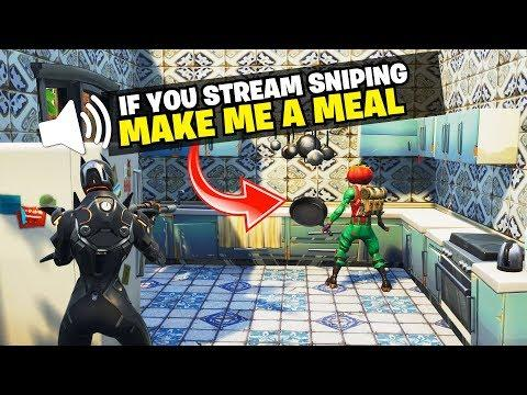 If You're Stream Sniping Me, Make Me A Meal! -- Ninja Got Trolled by Epic Games