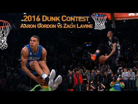 Zach LaVine And Aaron Gordon's AWESOME 2016 Slam Dunk Duel