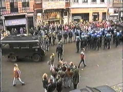 (Old Skool Hools) German Hooligans @ Brussels (Belgium) 1991