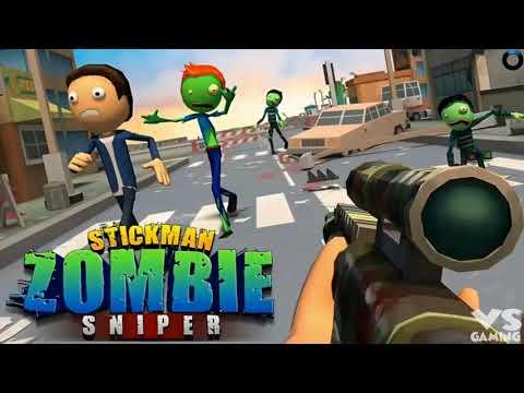 Stickman Halloween Sniper Scary Zombies - Best Shooting Game - Kill All the City Mafia Gameplay 2018