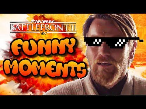 Star Wars Battlefront 2 Funny Moments Montage [FUNTAGE] #13 - Prequel Memes!