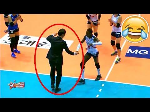 Player Dance With Coach !? Funny  Volleyball Videos (HD)