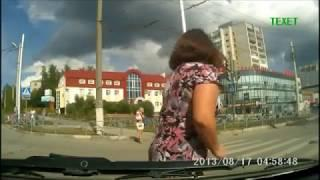 Dash Cam Footage Shows Dramatic Crash at Russian Junction