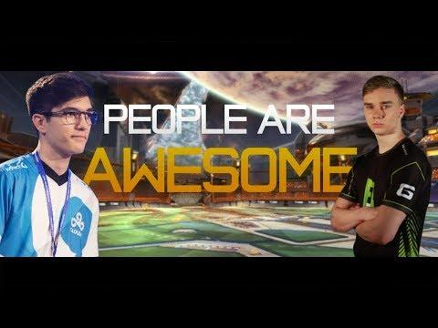 PEOPLE ARE AWESOME (Rocket League Edition) | Best Goals & Saves: ft.Squishy Muffinz, JHZER & MORE!