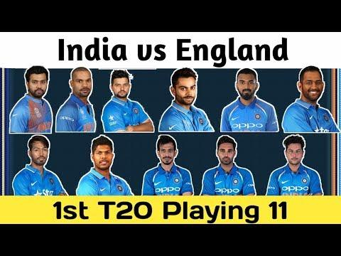 India vs England 1st T20 Match 2018 Playing 11 | Date, Time And Live Streaming |
