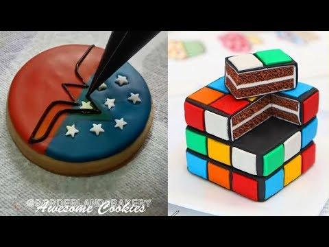 Oddly Satisfying Coookie Art Video! The Most Satisfying Videos - Awesome Cookies