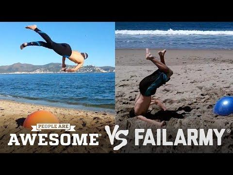 People Are Awesome vs. FailArmy | (Yoga Ball Tricks & Flips)