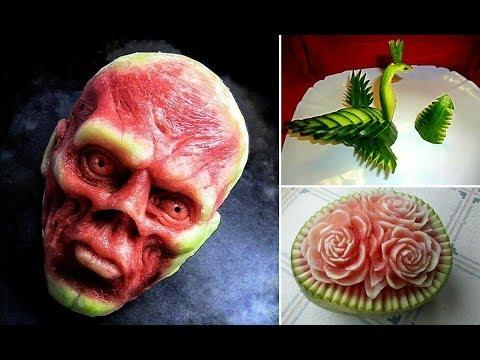 Amazing Food Art Compilation 2017 - Fruit and Vegetable Carving - People With Amazing Talent