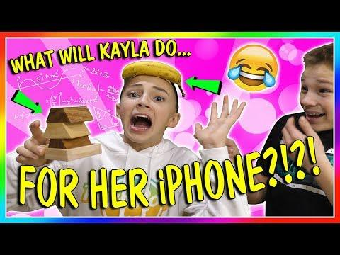 WHAT KAYLA DOES FOR AN iPHONE!?!? | We Are The Davises