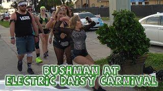 Bushman Scare Prank at #EDC #ElectricDaisyCarnival with Fred Special Television