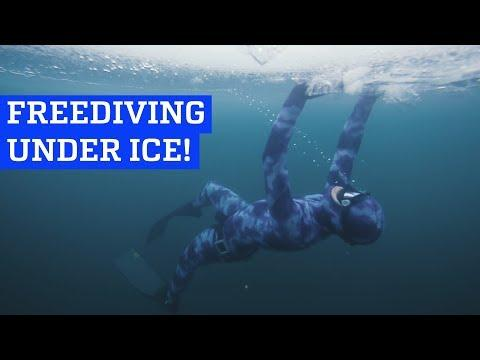 Freediving Under Ice!