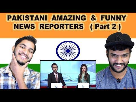 Indian reaction on PAKISTANI AMAZING & FUNNY NEWS REPORTERS   Part 2    Swaggy d