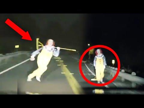 Top 15 SCARIEST Clown Videos Caught On Camera! (Creepy Killer Clown Sightings)