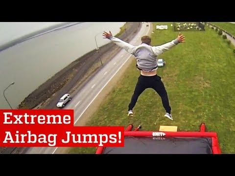 Extreme Airbag Jumps
