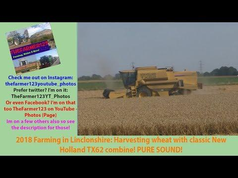Farming in Lincolnshire Harvesting wheat with classic New Holland TX62 combine! PURE SOUND [18]