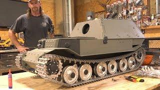 "FERDINAND ELEFANT: 1/6 Scale METAL TANK BUILD ""Tanks for 10 Years"" TIGER (P) PT 7 