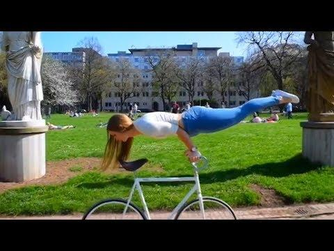 Amazing Artistic Cycling Tricks by Viola Brand! | People are Awesome