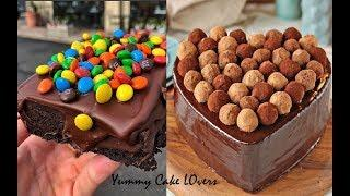 Chocolate Heart Cake | Amazing Cake Decorating Ideas | Most Satisfying Videos For Chocolate Lovers